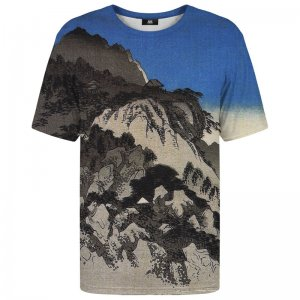 Mr. Gugu & Miss Go Full Moon Over A Mountain Landscape Unisex Short Sleeved T Shirt TSH1256