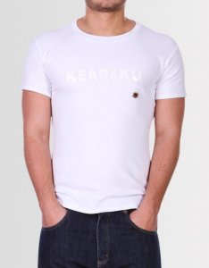 Kear&Ku Bullet Hole Short Sleeved T Shirt White