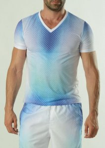 Geronimo Short Sleeved T Shirt Blue 1608T3V-2