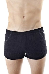 L'Homme Invisible Split Lounge Shorts Black HW111-CLO-001