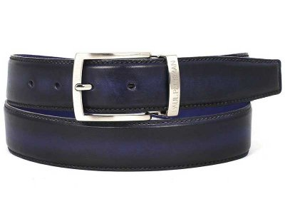 Paul Parkman Two Tone Leather Belt Navy & Blue B01-NVY-BLU