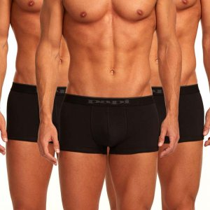 Papi [3 Pack] Cotton Stretch Brazilian Trunk Underwear Black 980501