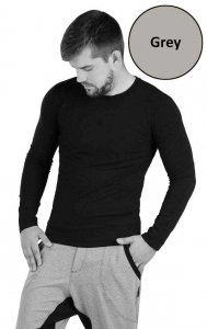 Litex Solid Long Sleeved T Shirt Grey 54149