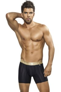 Xtremen Stripe Microfiber Boxer Brief Underwear Black 51317