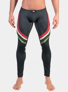 Barcode Berlin Stanley Tights Leggings Pants Green/White/Red 91481-613