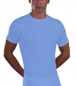 Lord Micromodal Short Sleeved T Shirt Light Blue 387