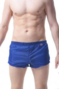 Petit-Q Agde Transparent Mini Shorts Jeans Blue PQ160607