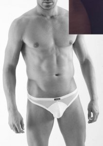 Geronimo Sheer Thong Underwear Black 1360S9