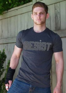 Ajaxx63 Resist Premium Heather Short Sleeved T Shirt Charcoal Grey RF39