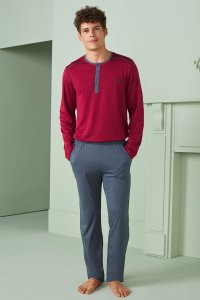 Doreanse Henley Long Sleeved T Shirt & Pants Set Loungewear ...