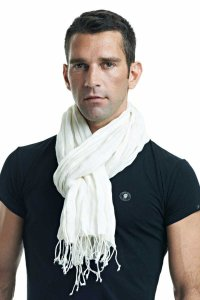 L'Homme Invisible Linen Scarf Ecru HIS-S02