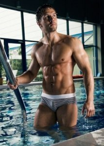 Alpha Male Stripe Bikini Swimwear ERGO1