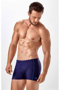 New Beach Frisos Laterais Square Cut Trunk Swimwear Navy Blue