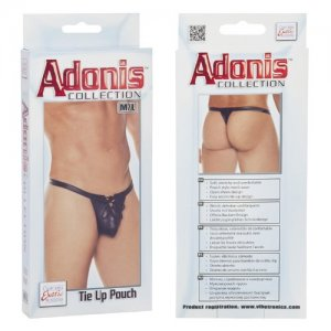Adonis Collection Tie Up Pouch Thong Underwear Black SE4524
