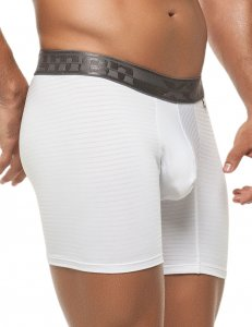 Xtremen Stripe Microfiber Boxer Brief Underwear White 51388