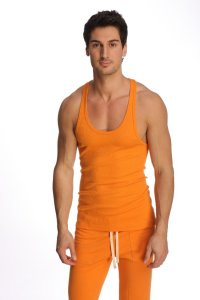 4-rth Racer Back Yoga Tank Top T Shirt Sun Orange
