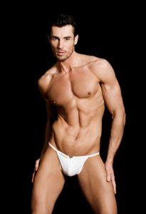 MaleBasics Zipper Thong Underwear White MBL25
