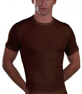 Lord Micromodal Short Sleeved T Shirt Brown 387