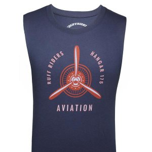 Ruff Riders Hanger 175 Muscle Top T Shirt Navy