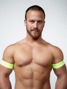 Mister B Urban Club Biceps Bands Neon Yellow 820504