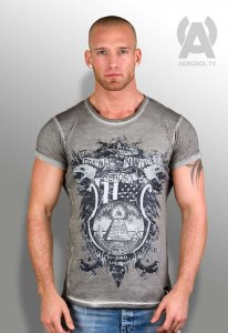 Aerosol IlluminaTee Strip'n Clip Short Sleeved T Shirt Grey ...