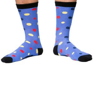 Curious Beaver Polka Dots A Socks SOC006C10