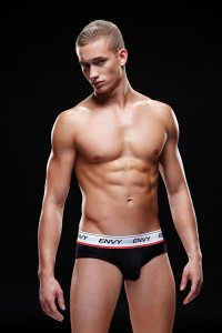 Envy Logo Elastic Low Rise Brief Underwear Black E005