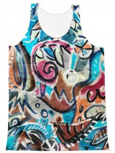 Polly & Cracker Bus Seat Sublimation Tank Top T Shirt PC42