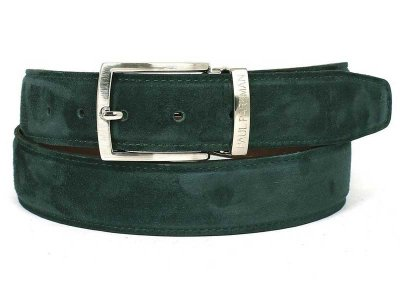 Paul Parkman Belt Green Suede B06-GREEN