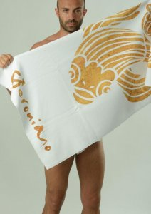 Geronimo Towel White/Gold 1609X1-2