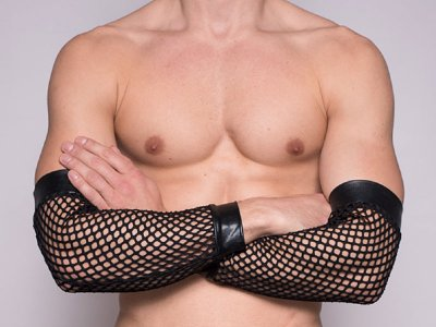 Tartarus Fish Net Sleeves Black TRU-139