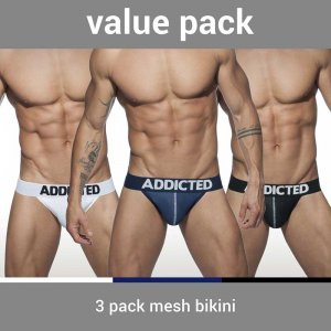 Addicted [3 Pack] Mesh Brief Underwear AD679P