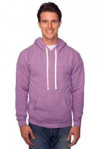 Royal Apparel Unisex Triblend Fleece Pullover Hoody Long Sleeved Sweater Tri Purple 25055