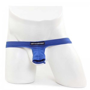 MIIW Suspensory Crotchless Pouch Underwear Royal Blue 0003-1...