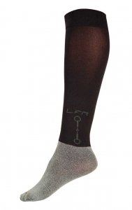 Litex Riders Two Tone Knee Socks Black J2005