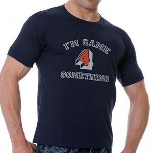 Good Boy Gone Bad I'm Game Short Sleeved T Shirt Navy