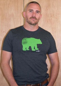 Ajaxx63 Modern Bear Regular Fit Short Sleeved T Shirt Charcoal RF30