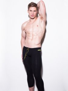 N2N Bodywear Cotton Sport Runner Pants Black CS7
