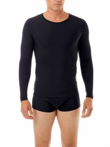 Underworks Shapewear Microfiber Light Compression Body Long Sleeved T Shirt Black 497101