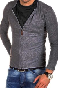 Carisma Zipper 7921-1 Sweater Dark Grey