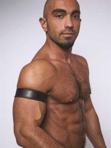 Mister B Leather Biceps Armbands Black 431401