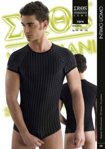 Eros Veneziani Stripe Short Sleeved T Shirt 7074