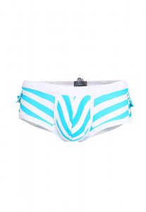 Spy Henry Lau Side Pocket Stripe Square Cut Trunk Swimwear Blue SP788AA25YEOHK