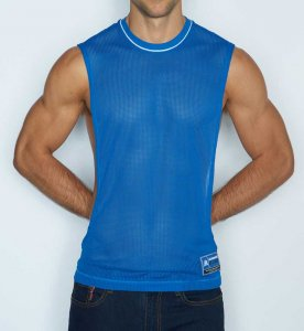 C-IN2 Scrimmage Athletic Muscle Top T Shirt Denim 6827