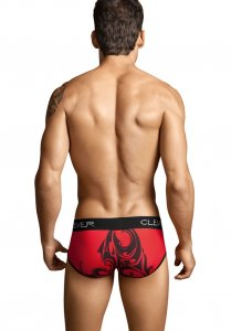 Clever Piping Tribal Brief Underwear Red 5128