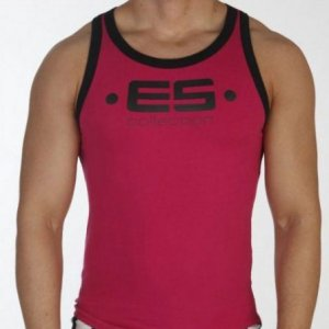 ES Collection Muscle Back Tank Top T Shirt Fuchsia 202