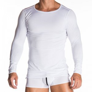 Gigo BASIC WHITE Long Sleeved T Shirt G26121