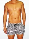 Whittall & Shon Hawaii 5-0 Tie Lining Swirl Shorts Swimwear Black/Ivory 122-259