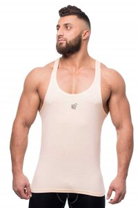 Jed North Classic Stringer Tank Top T Shirt Peach Cream TANK007