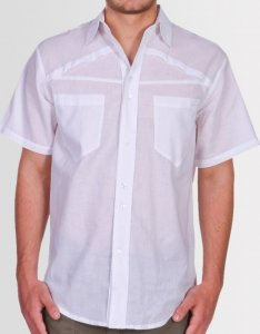 Kear&Ku Pleat Short Sleeved Shirt White